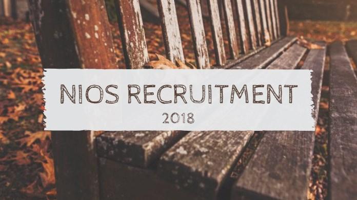 NIOS Recruitment 2018 EDP Supervisor, Junior Assistant